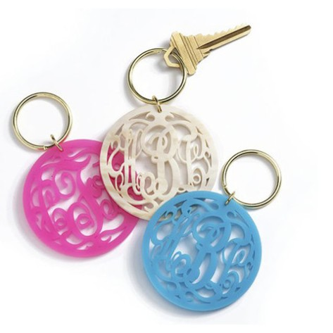 Monogram Keychains via threehipchicks.com