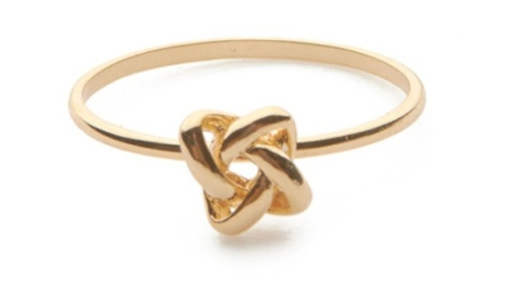 """Forget me Knot ""ring via jeweliq.com"
