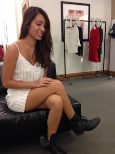 AQUA Dress- Deco Sequin V-Neck