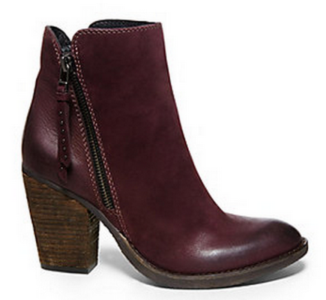 Burgundy booties.  Courtesy of Steve Madden.  Click to original website.