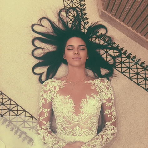 Courtesy of Kendall Jenner's Instagram.  Most liked picture on Instagram, featuring Kendall Jenner.